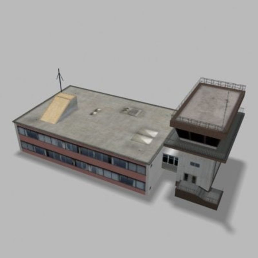 air_traffic_tower.zip royalty-free 3d model - Preview no. 8