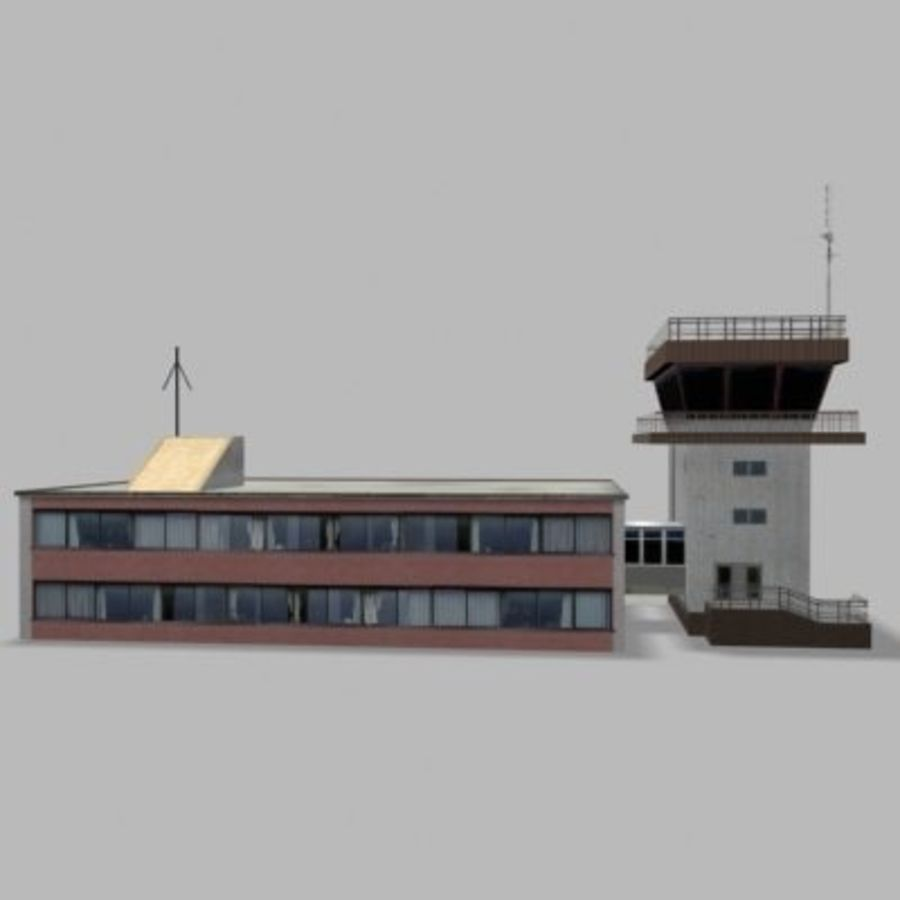 air_traffic_tower.zip royalty-free 3d model - Preview no. 2