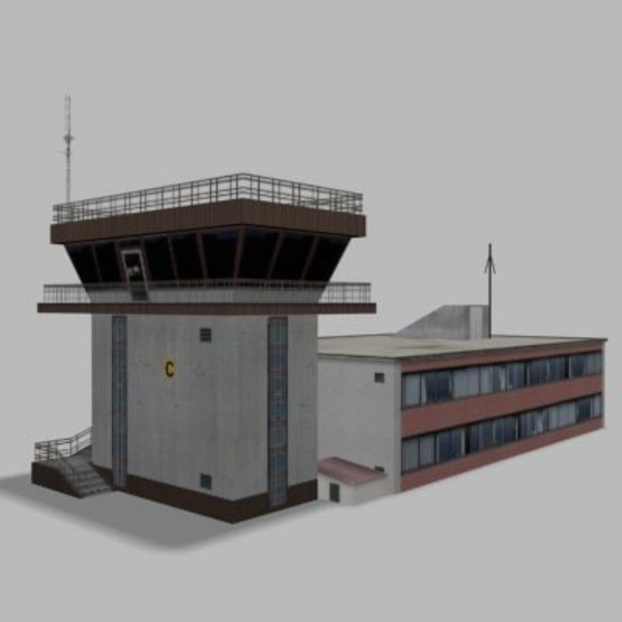 air_traffic_tower.zip royalty-free 3d model - Preview no. 4