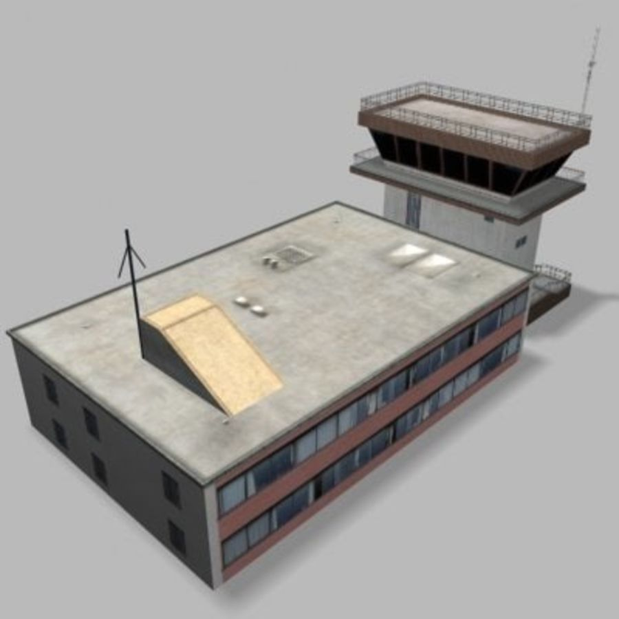 air_traffic_tower.zip royalty-free 3d model - Preview no. 3