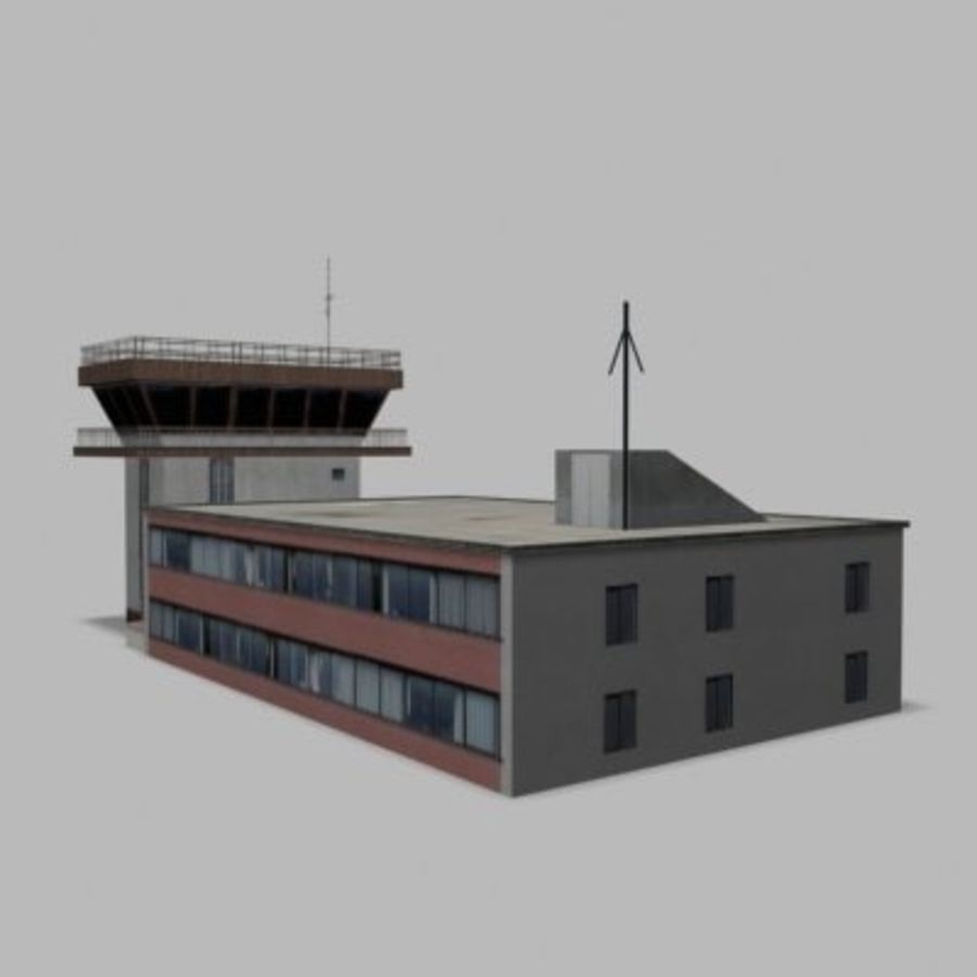 air_traffic_tower.zip royalty-free 3d model - Preview no. 7