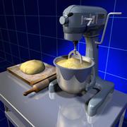 Karıştırıcı ve Ekmek Hamuru 01 3d model
