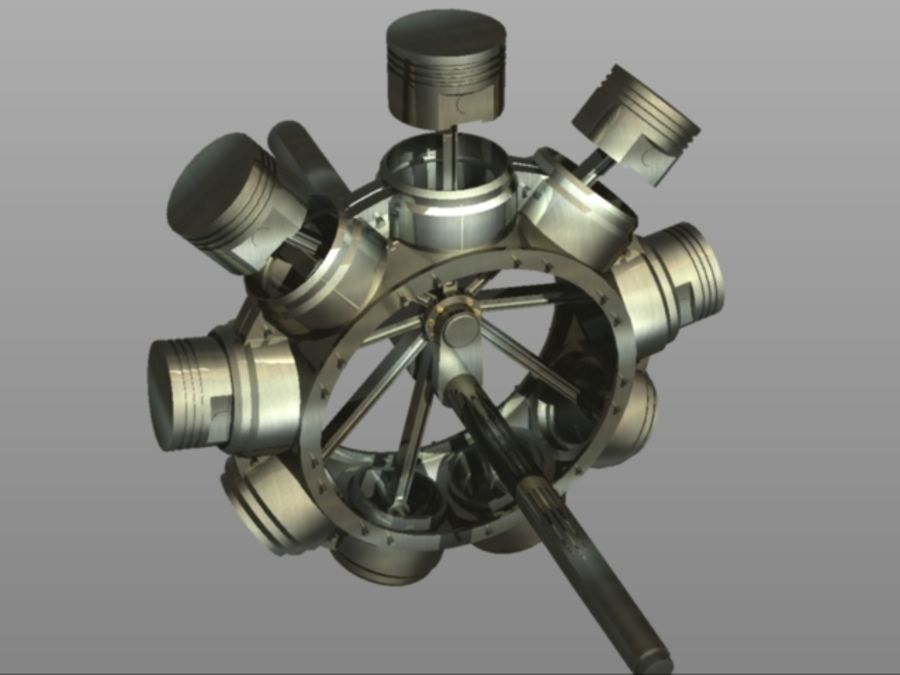 Gnome Engine.dwg royalty-free 3d model - Preview no. 4