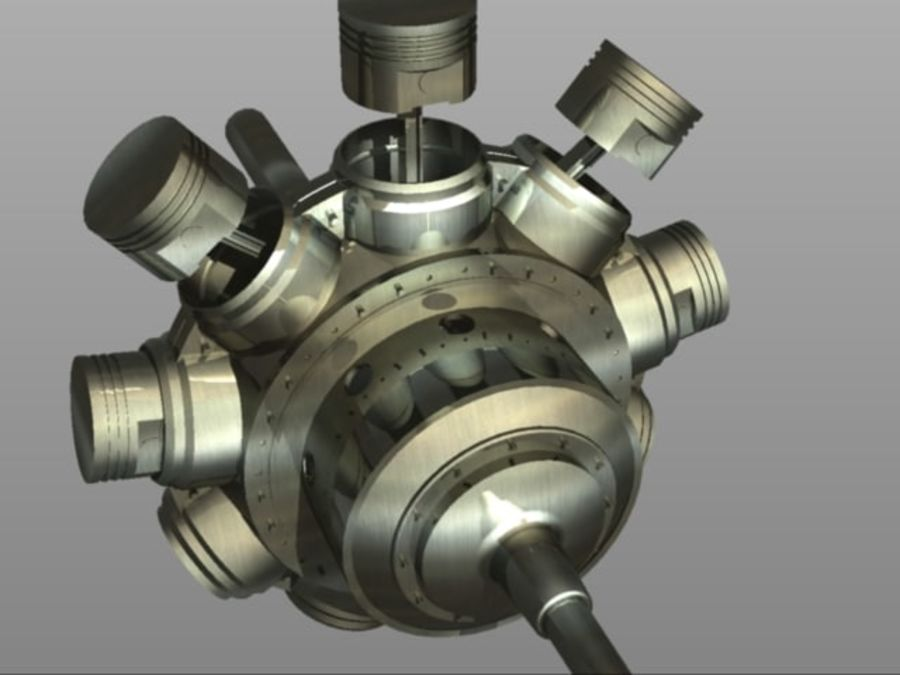Gnome Engine.dwg royalty-free 3d model - Preview no. 3