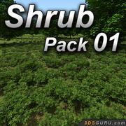 Shrub model pack 01 3d model