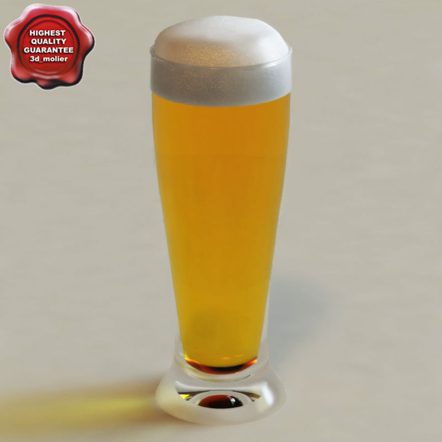 Beer glass collection royalty-free 3d model - Preview no. 2