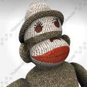 sock monkey 3d model