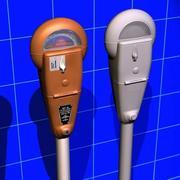 Parkering Meter (Vintage) 01 3d model