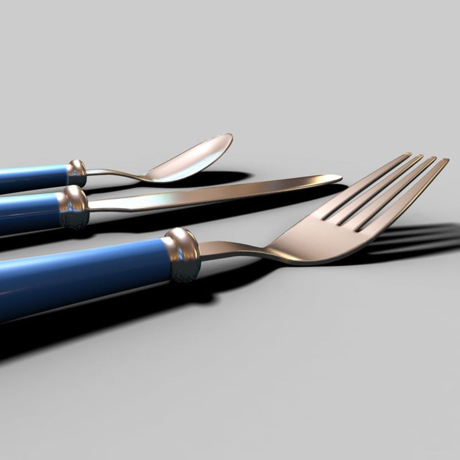 Fork Knife Spoon royalty-free 3d model - Preview no. 14