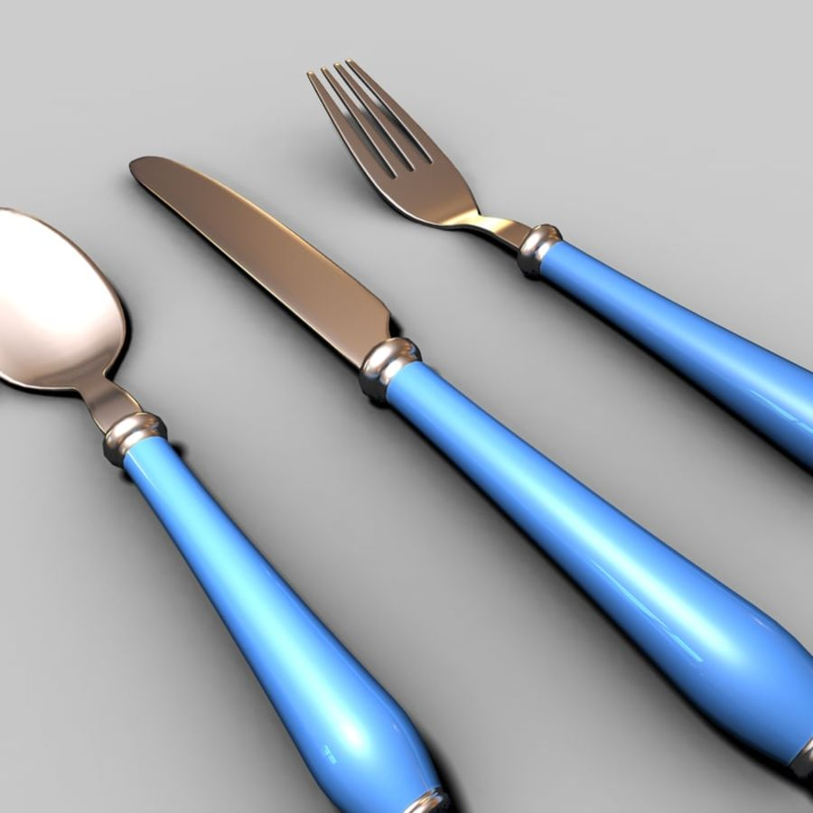 Fork Knife Spoon royalty-free 3d model - Preview no. 5
