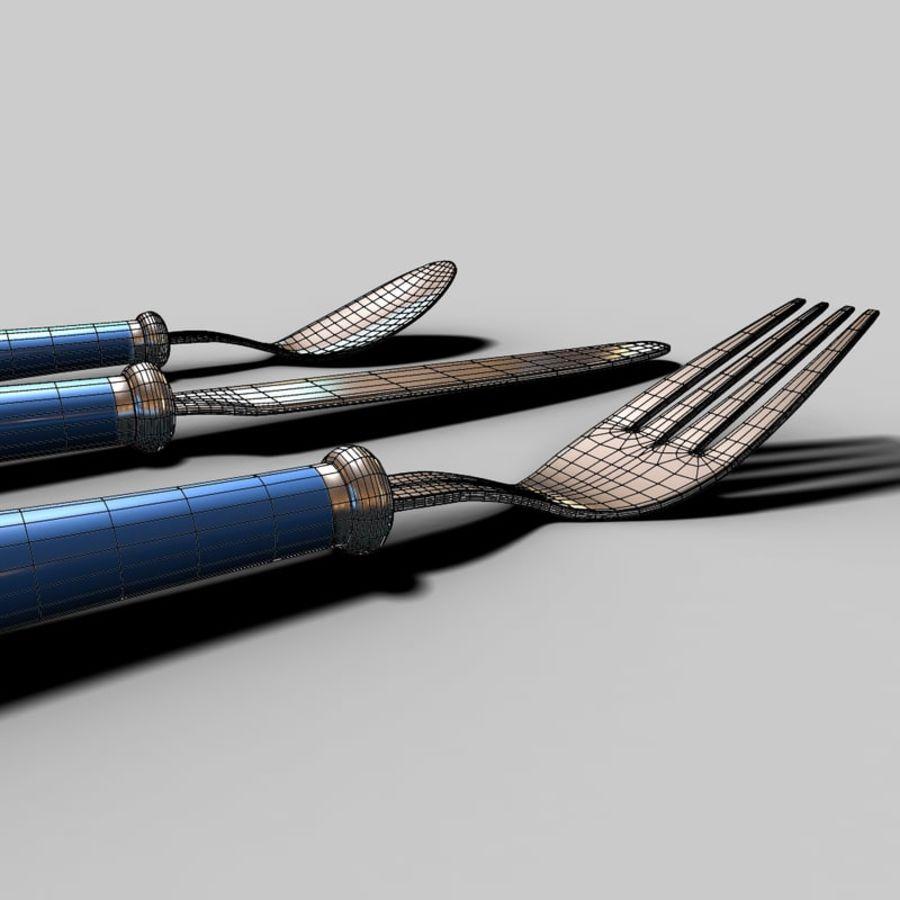 Widelec nóż łyżka royalty-free 3d model - Preview no. 15