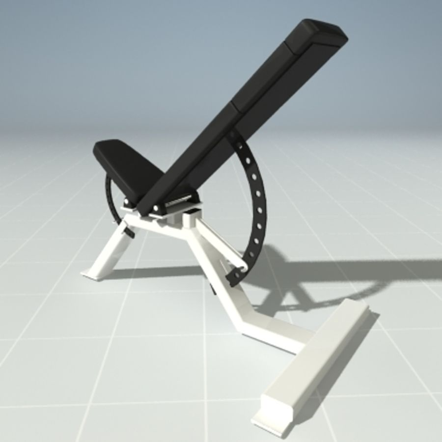 PRECOR 119CLX Incline Bench royalty-free 3d model - Preview no. 2