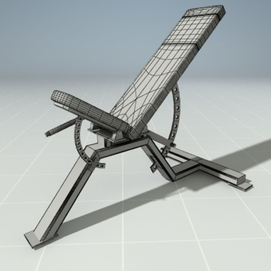 PRECOR 119CLX Incline Bench royalty-free 3d model - Preview no. 4