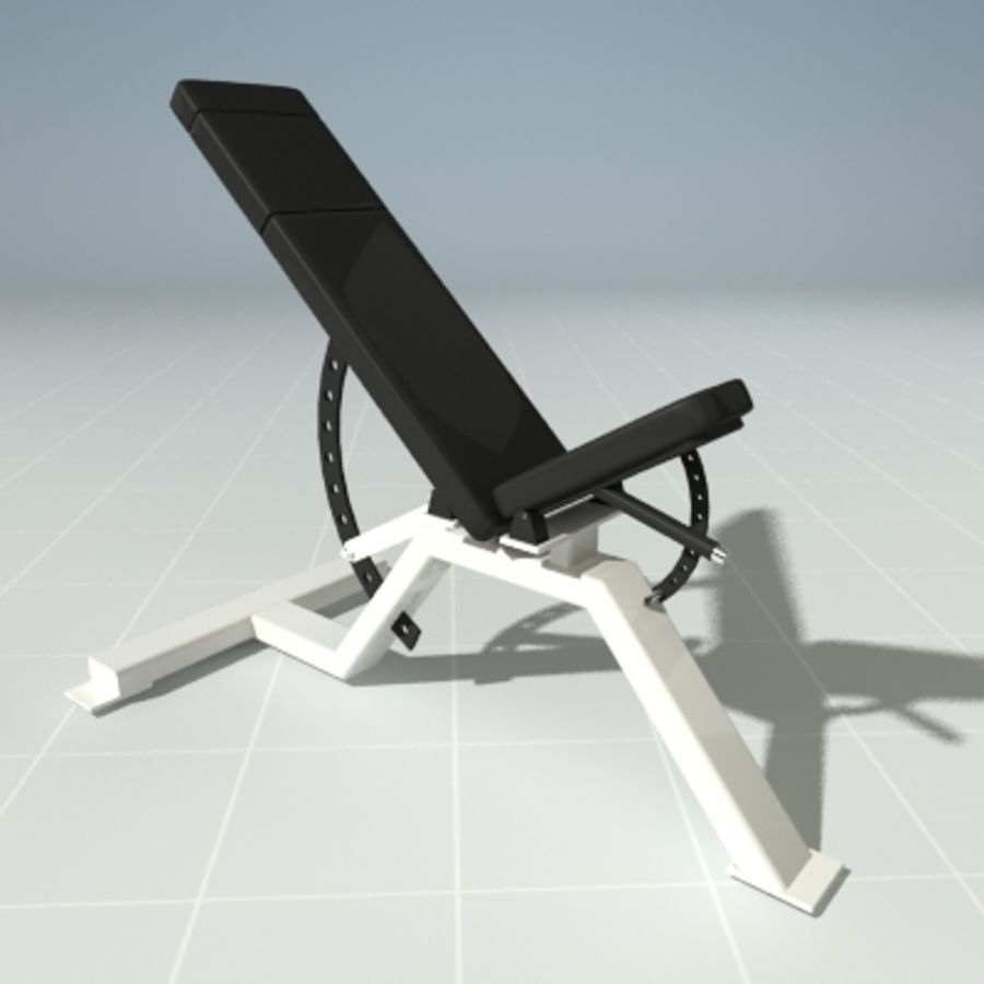 PRECOR 119CLX Incline Bench royalty-free 3d model - Preview no. 1
