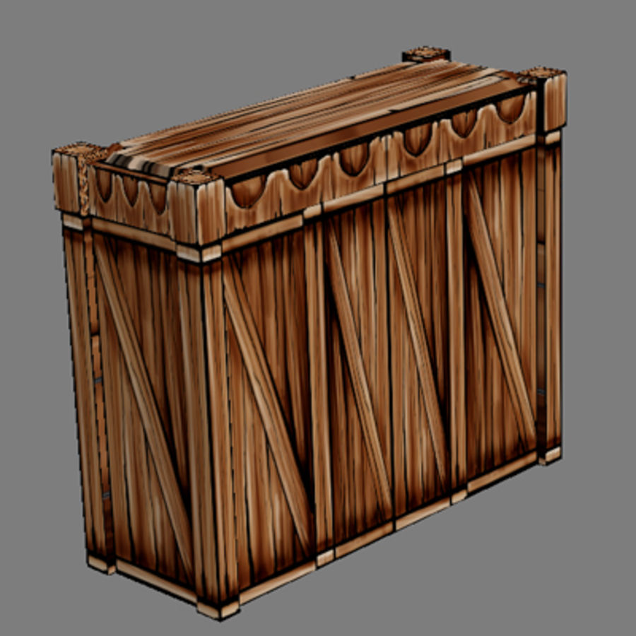 Lowpoly - Furniture - Cupboard royalty-free 3d model - Preview no. 2