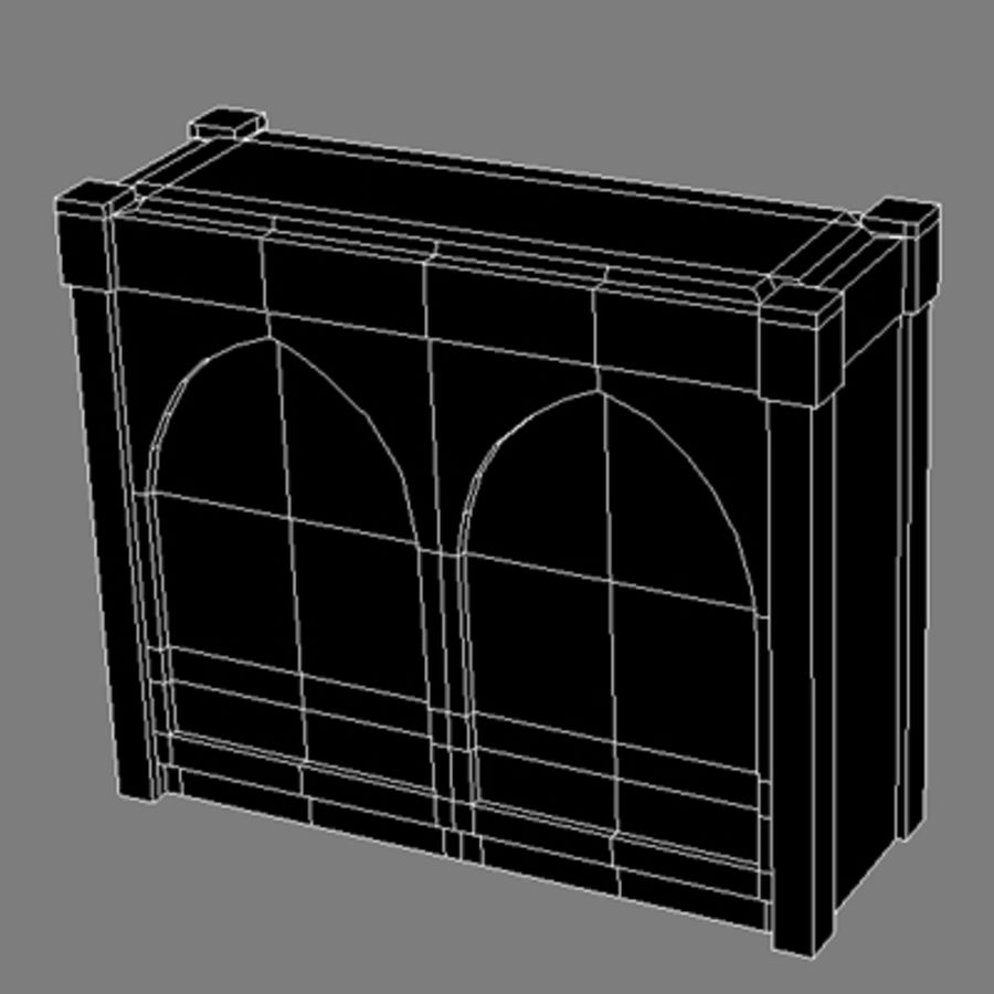 Lowpoly - Furniture - Cupboard royalty-free 3d model - Preview no. 4