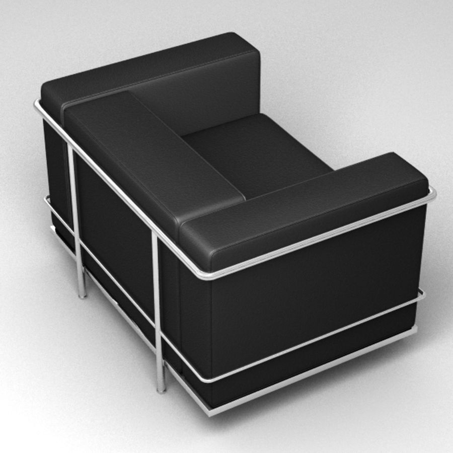 Coleção Cassina LC3 royalty-free 3d model - Preview no. 7