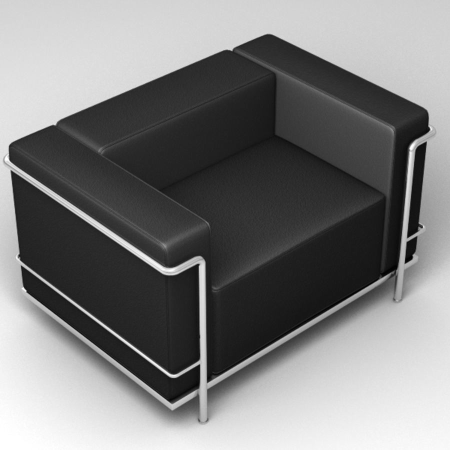 Coleção Cassina LC3 royalty-free 3d model - Preview no. 4