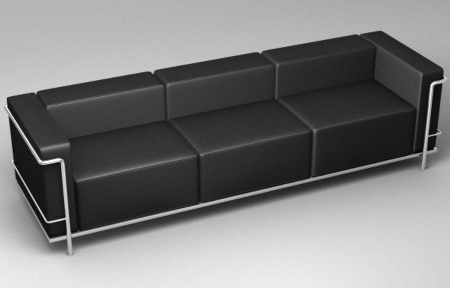 Coleção Cassina LC3 royalty-free 3d model - Preview no. 3