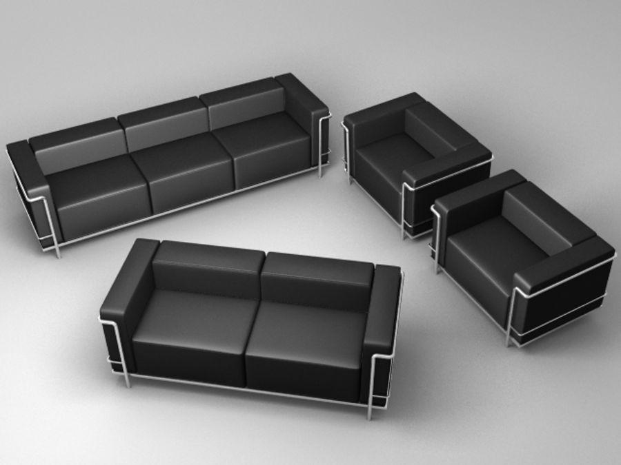 Coleção Cassina LC3 royalty-free 3d model - Preview no. 1