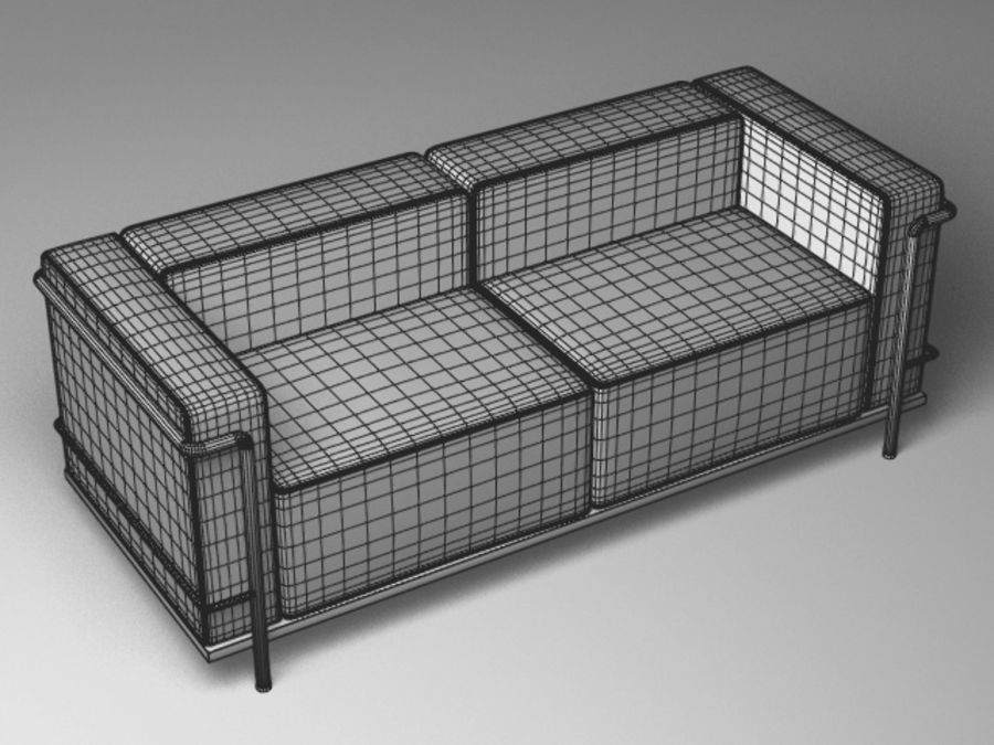 Cassina LC3系列 royalty-free 3d model - Preview no. 11