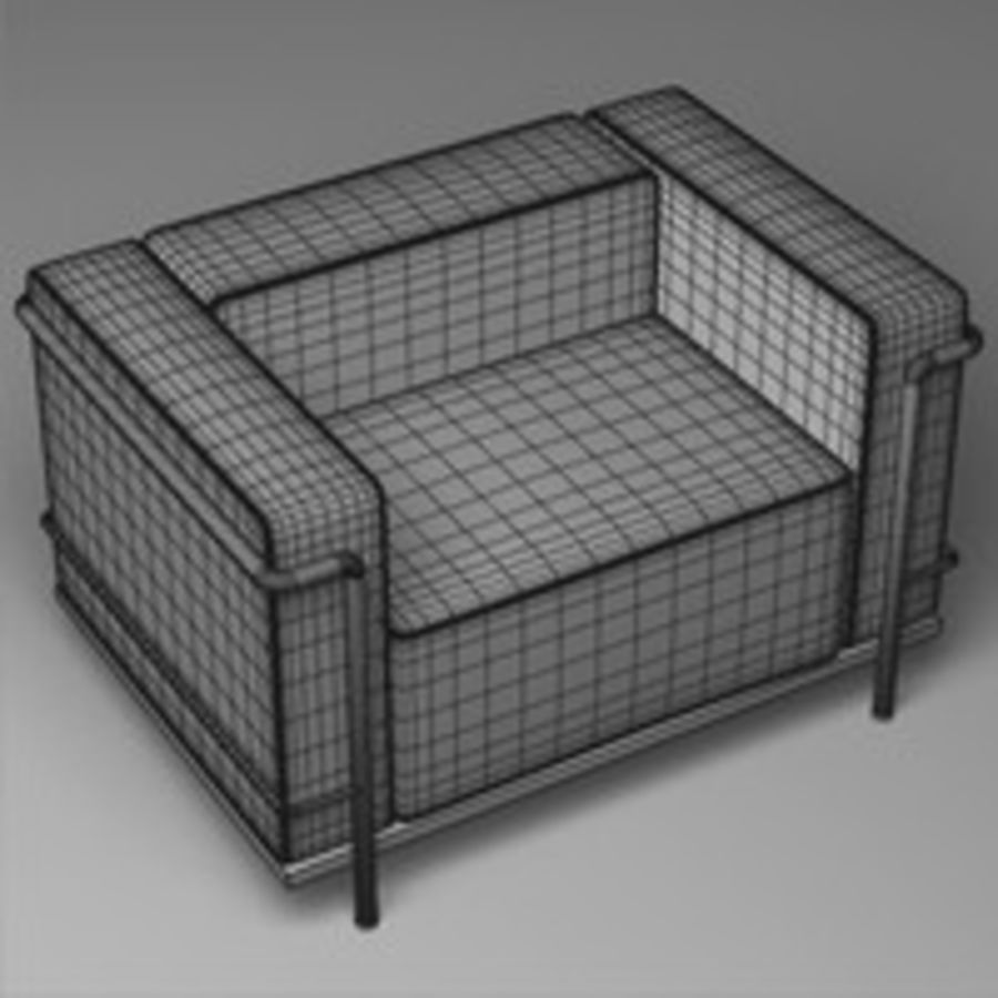 Cassina LC3系列 royalty-free 3d model - Preview no. 12