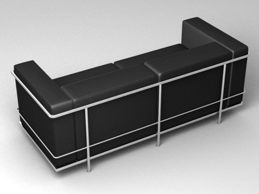 Coleção Cassina LC3 royalty-free 3d model - Preview no. 5