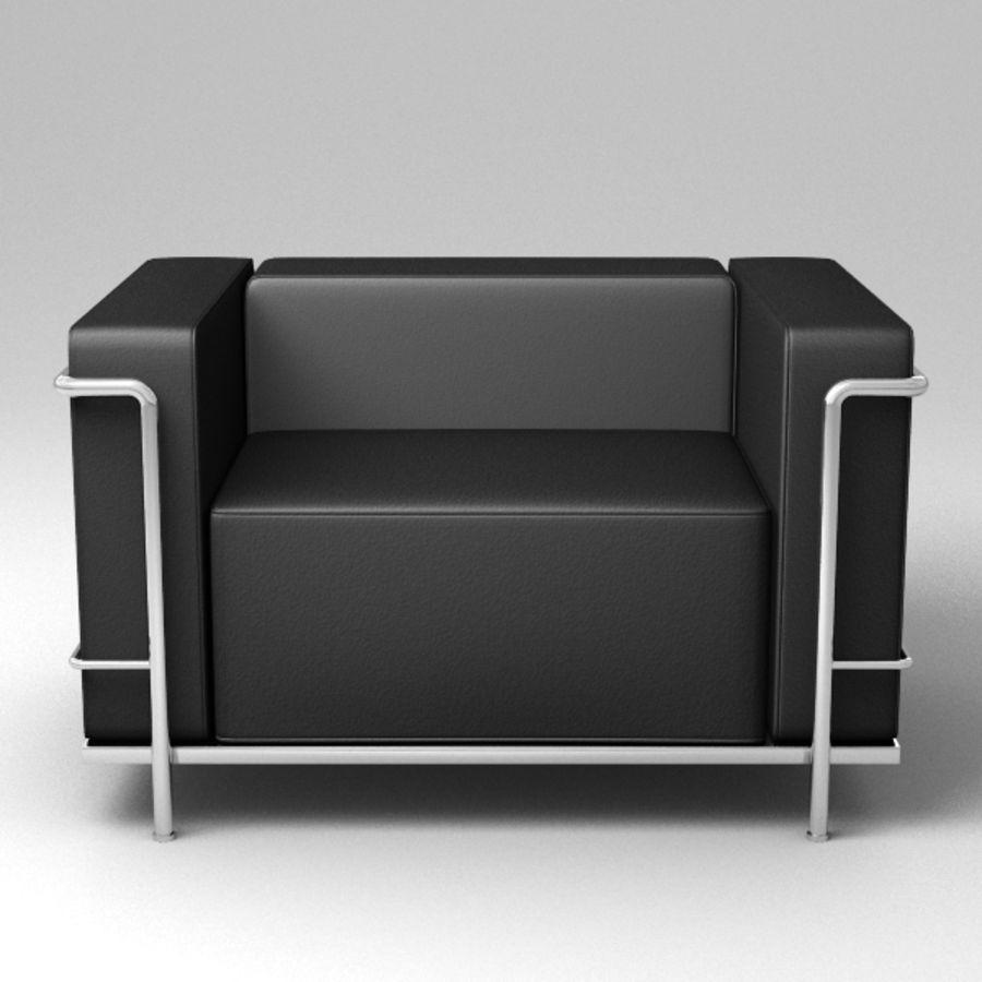 Coleção Cassina LC3 royalty-free 3d model - Preview no. 10