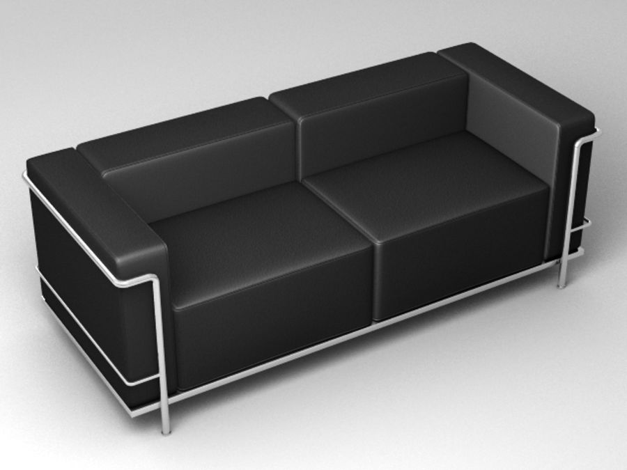 Cassina LC3系列 royalty-free 3d model - Preview no. 2