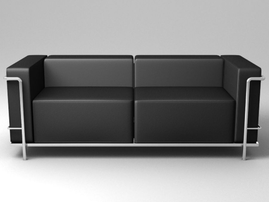 Cassina LC3系列 royalty-free 3d model - Preview no. 8