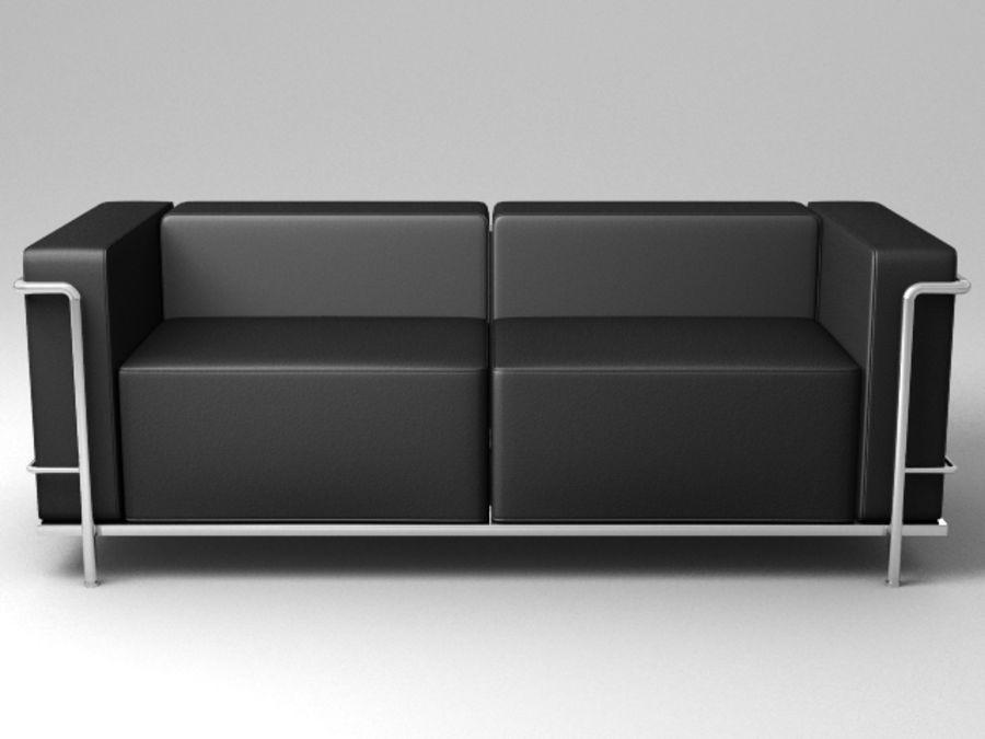 Coleção Cassina LC3 royalty-free 3d model - Preview no. 8