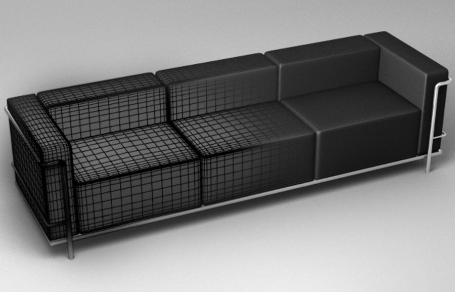 Coleção Cassina LC3 royalty-free 3d model - Preview no. 9