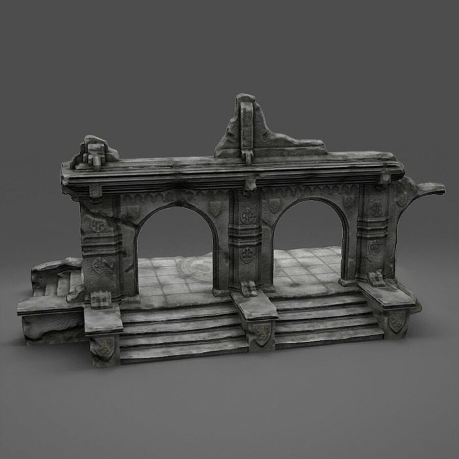 Ruin A royalty-free 3d model - Preview no. 3