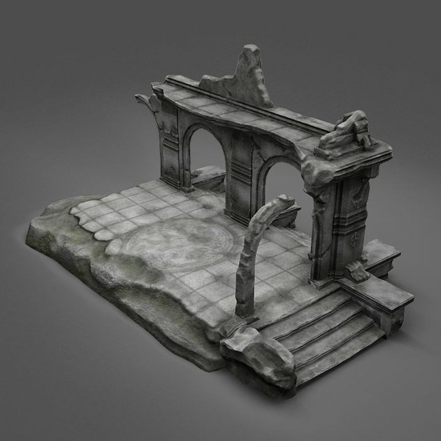 Ruin A royalty-free 3d model - Preview no. 8