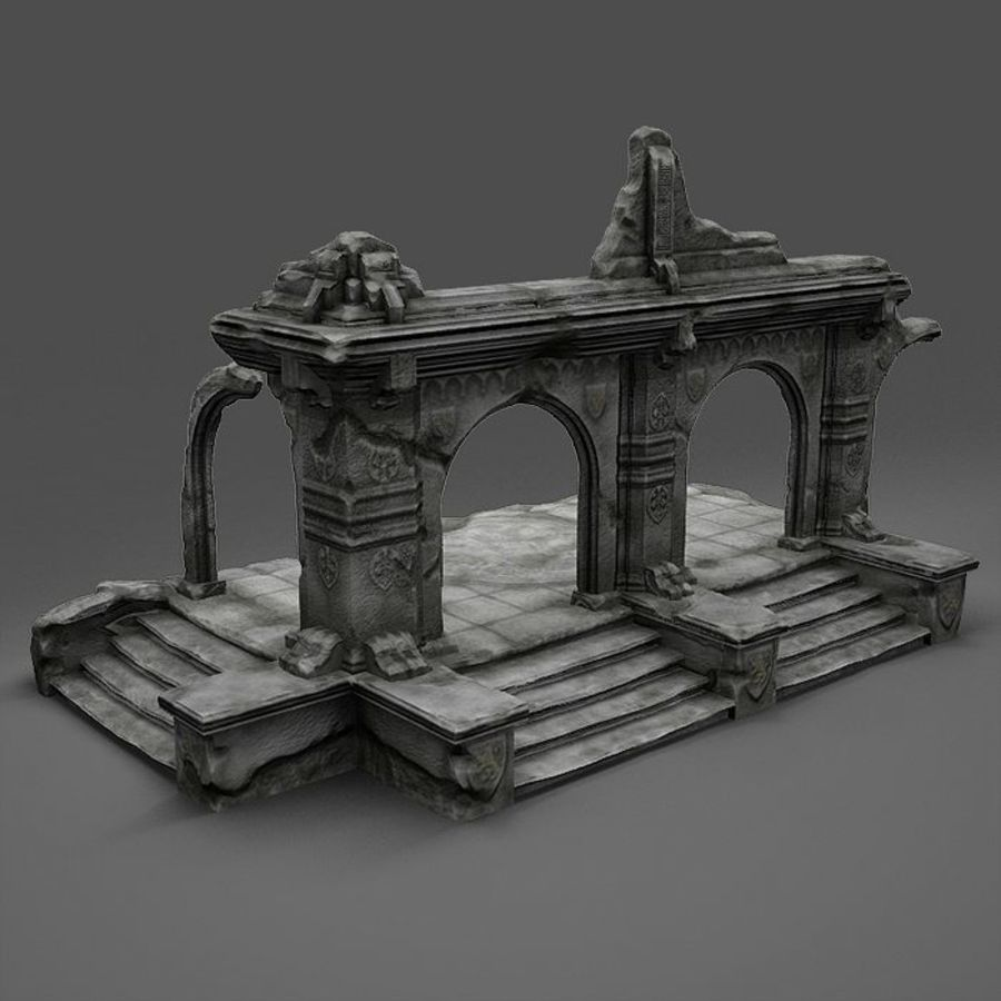 Ruin A royalty-free 3d model - Preview no. 2