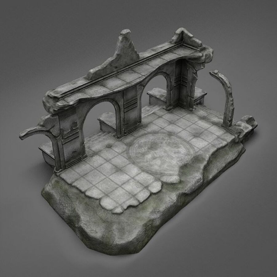 Ruin A royalty-free 3d model - Preview no. 6