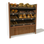 bread on shelves 3d model
