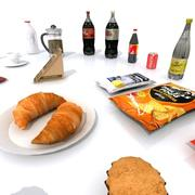 Food and Drink Set 3d model