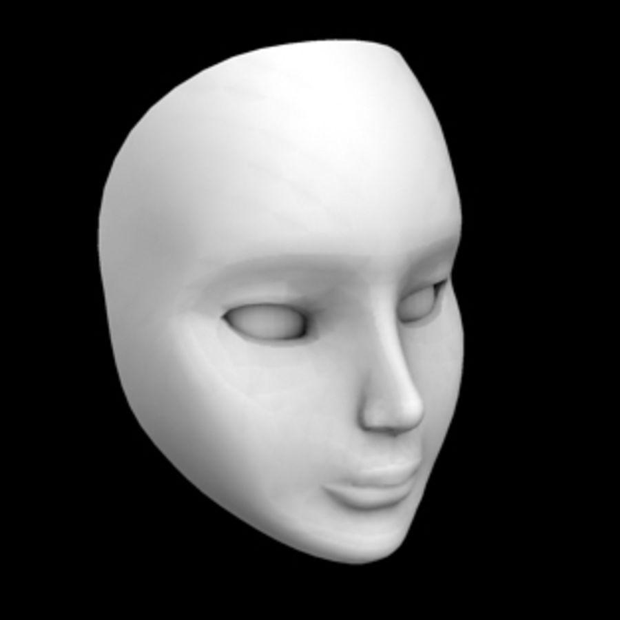 Głowa i maska royalty-free 3d model - Preview no. 6