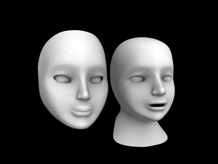 Głowa i maska royalty-free 3d model - Preview no. 2