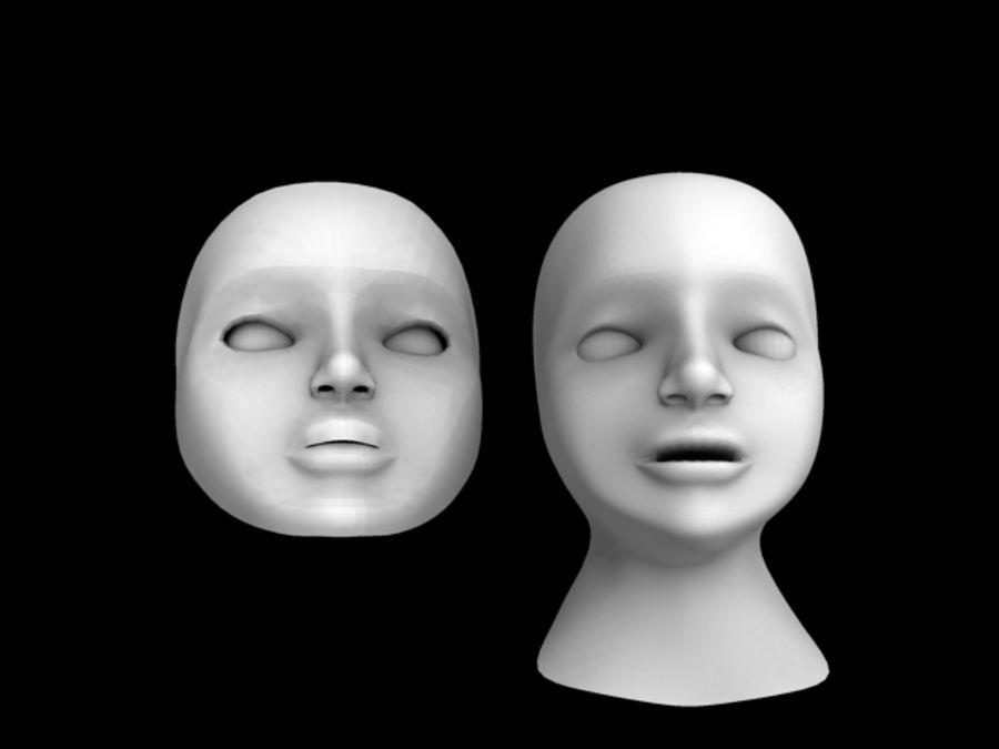 Głowa i maska royalty-free 3d model - Preview no. 3