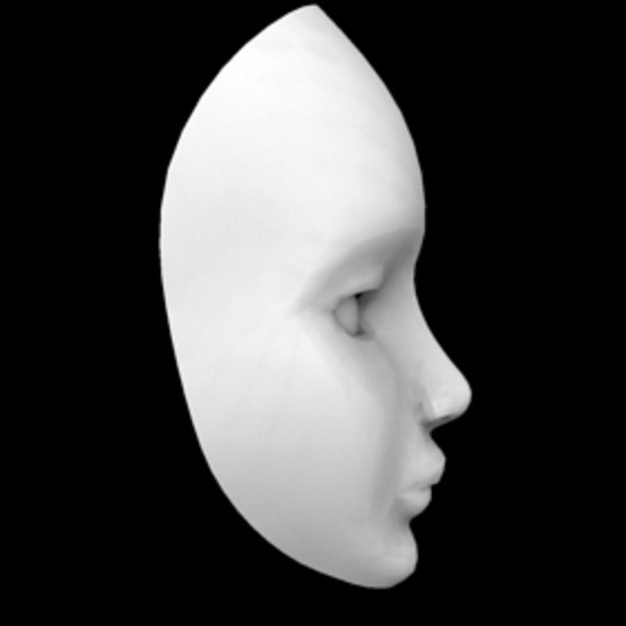 Głowa i maska royalty-free 3d model - Preview no. 8