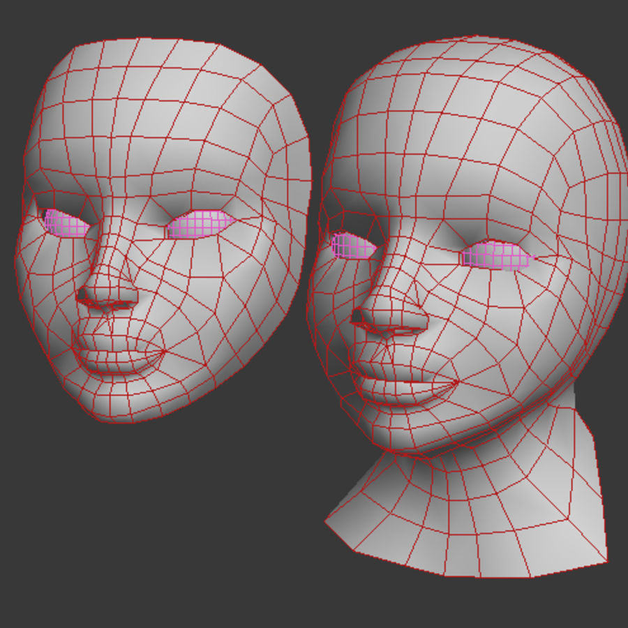 Głowa i maska royalty-free 3d model - Preview no. 5