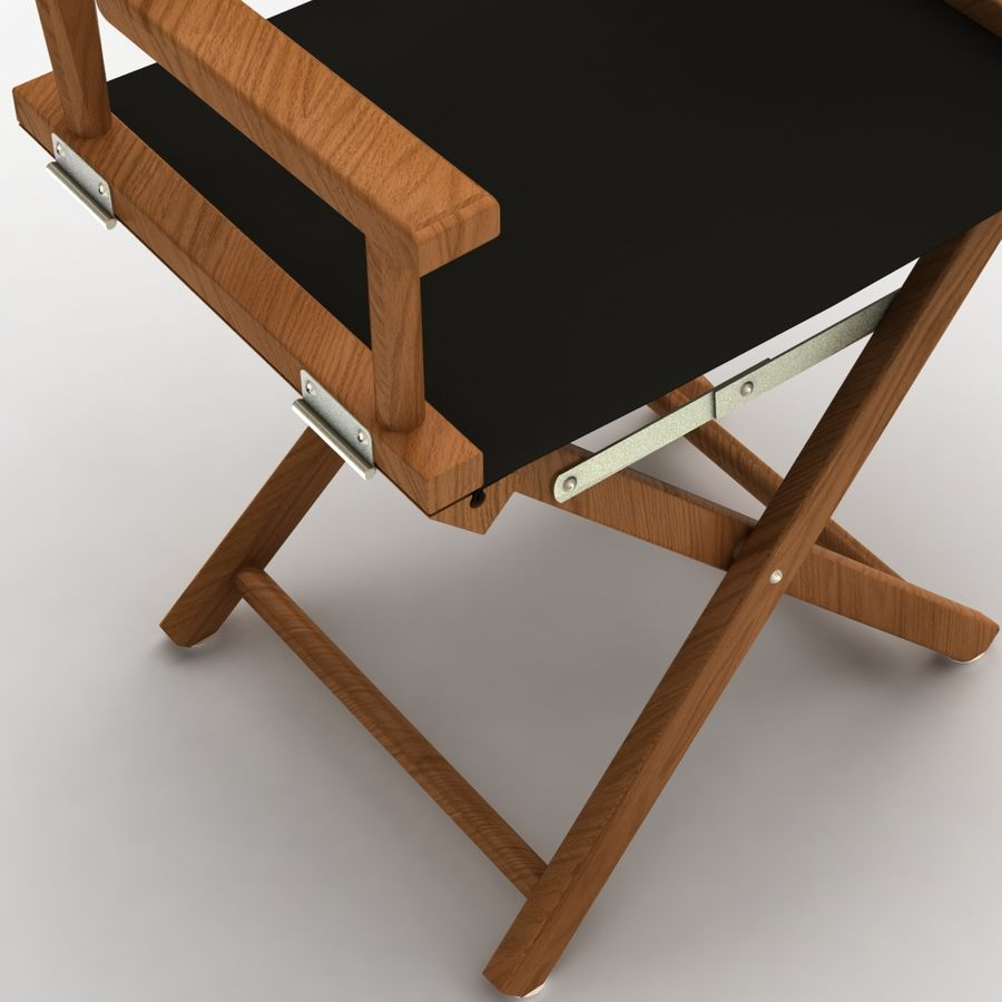Director Chair Black royalty-free 3d model - Preview no. 5