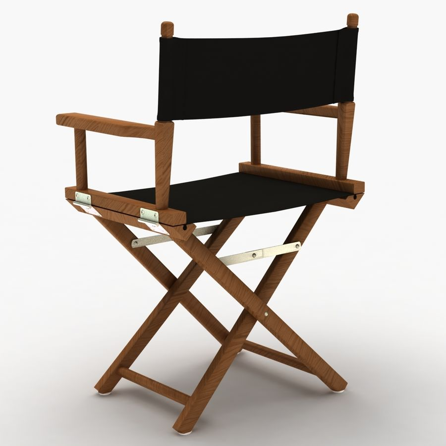 Director Chair Black royalty-free 3d model - Preview no. 4