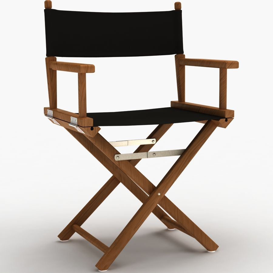 Director Chair Black royalty-free 3d model - Preview no. 2