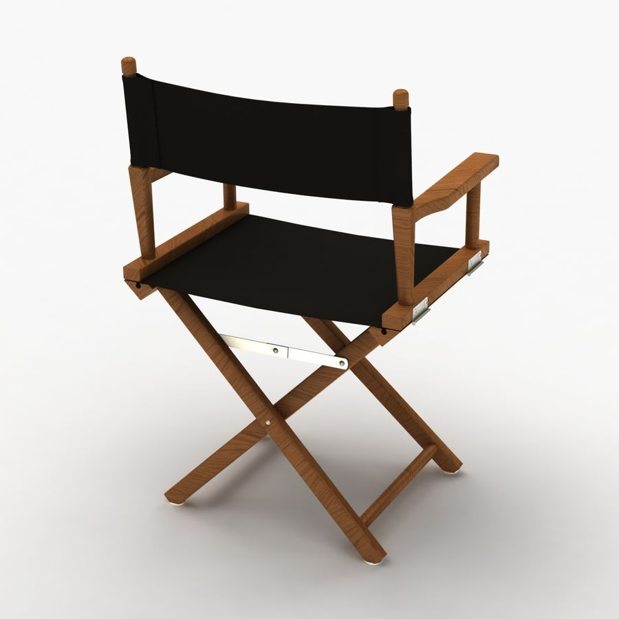 Director Chair Black royalty-free 3d model - Preview no. 8