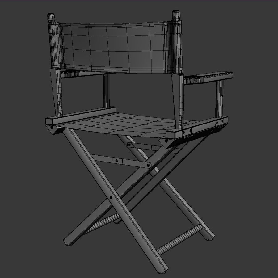 Director Chair Black royalty-free 3d model - Preview no. 12