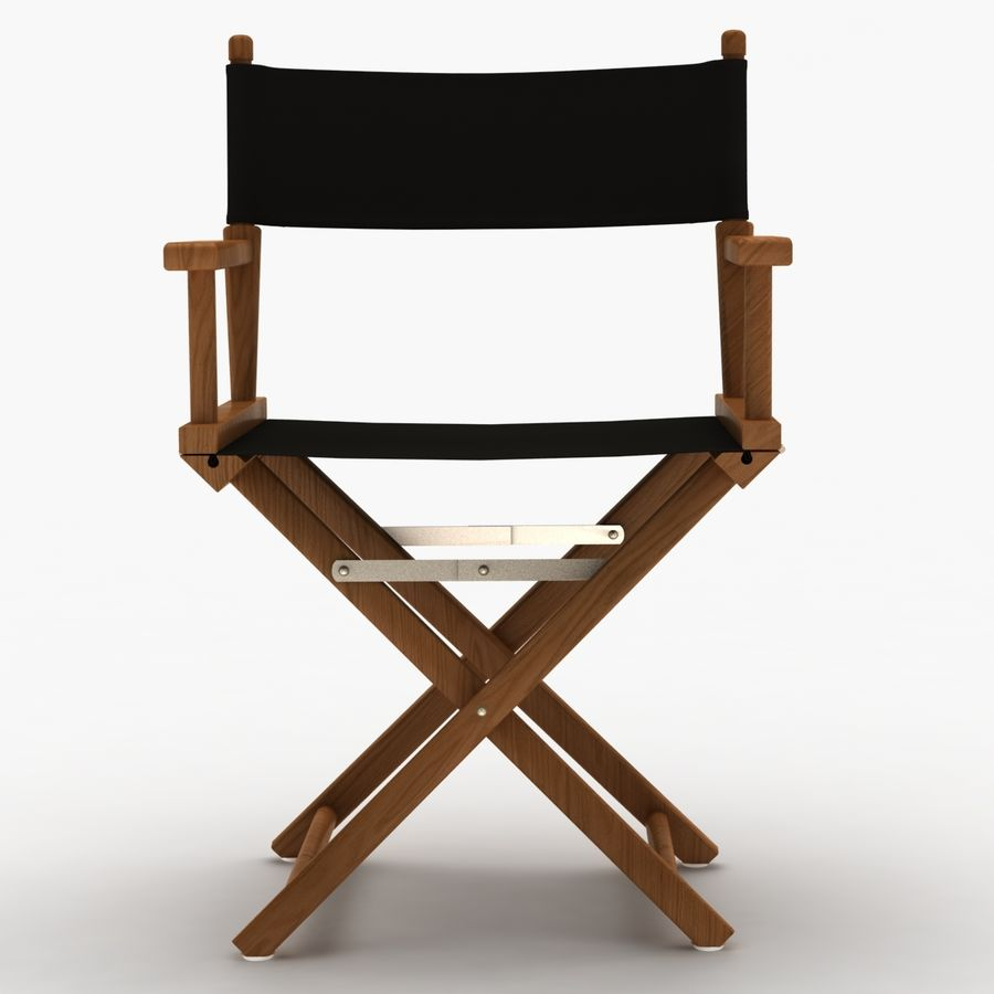 Director Chair Black royalty-free 3d model - Preview no. 9