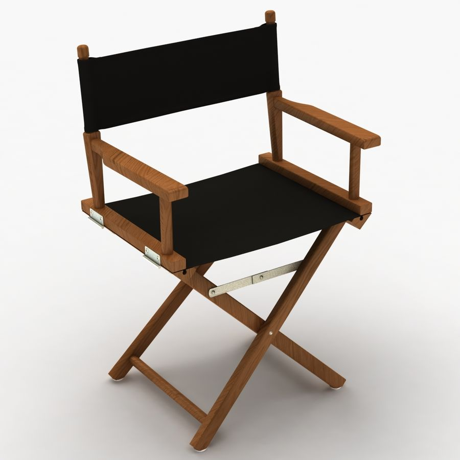 Director Chair Black royalty-free 3d model - Preview no. 3